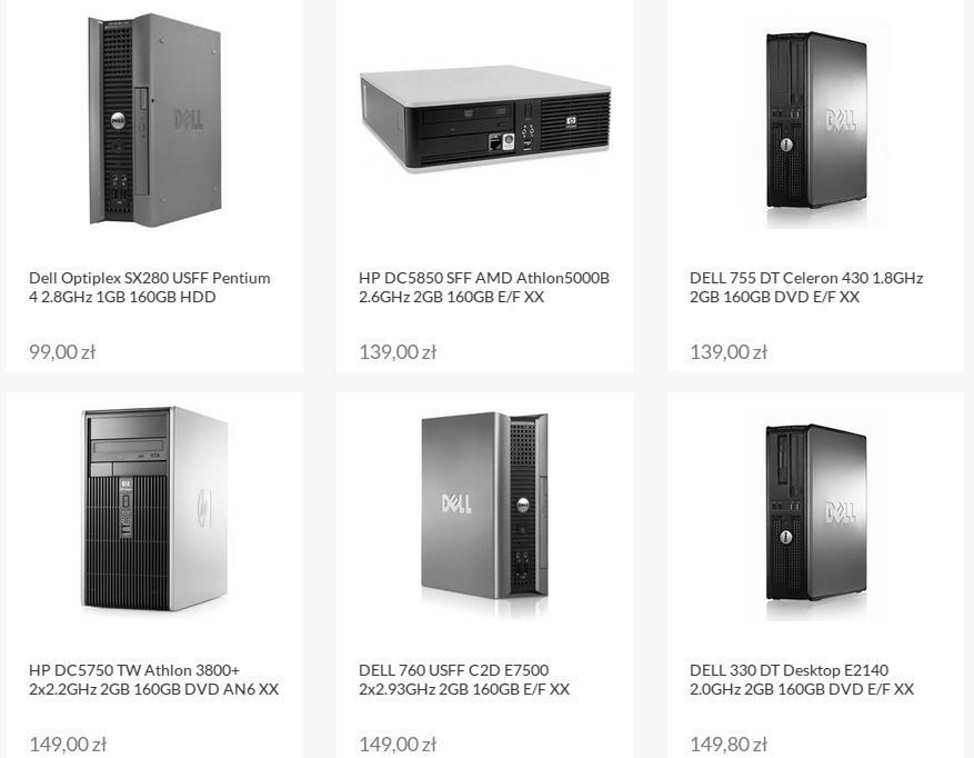 Oferta komputerów poleasingowych w sklepie internetowym