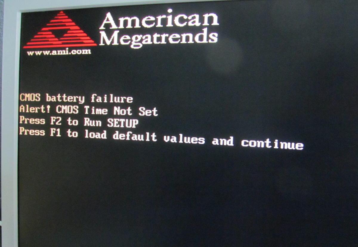 Rozladowana bateria BIOS