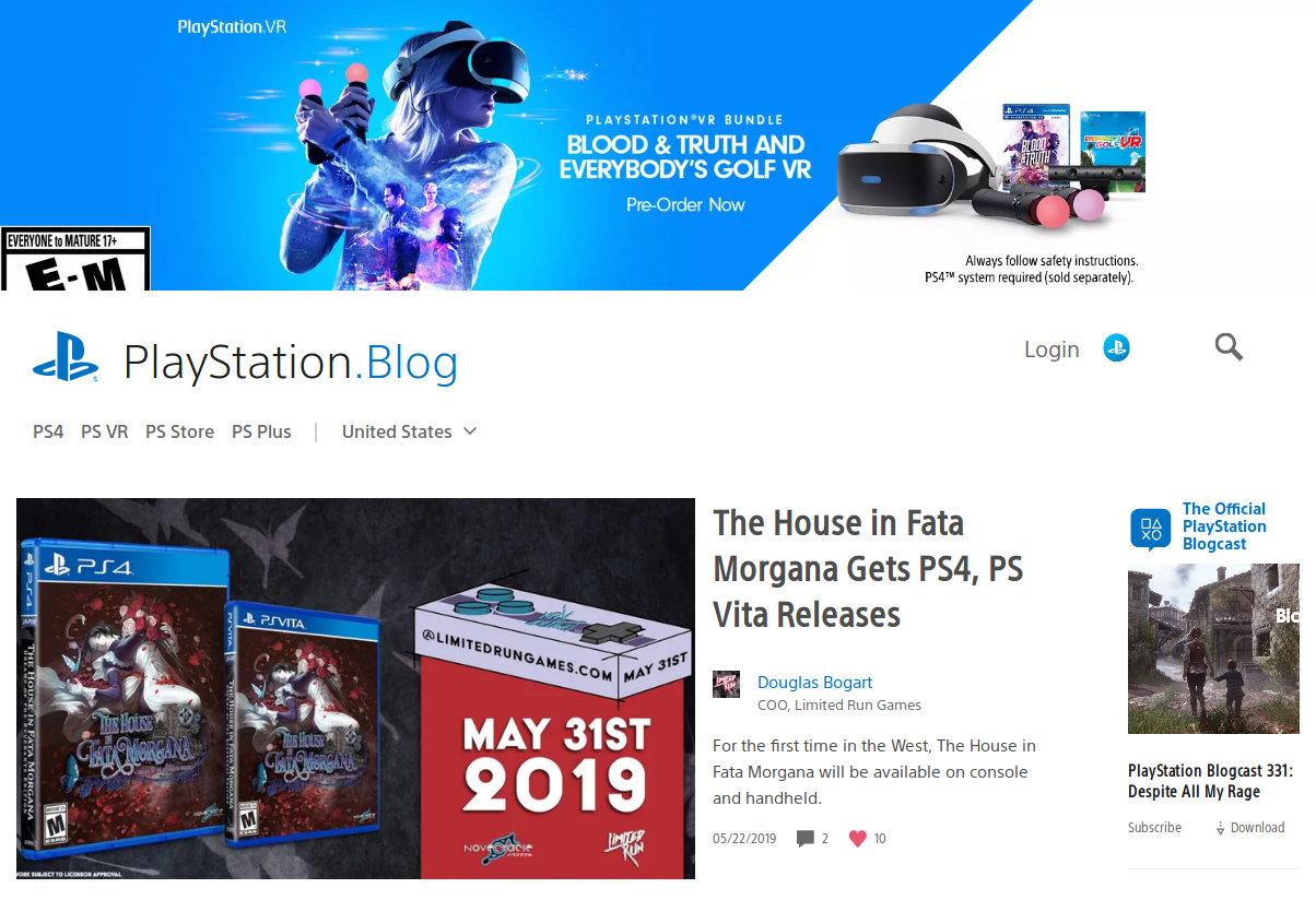 Przykład strony opartej o WordPress - Blog Sony PlayStation