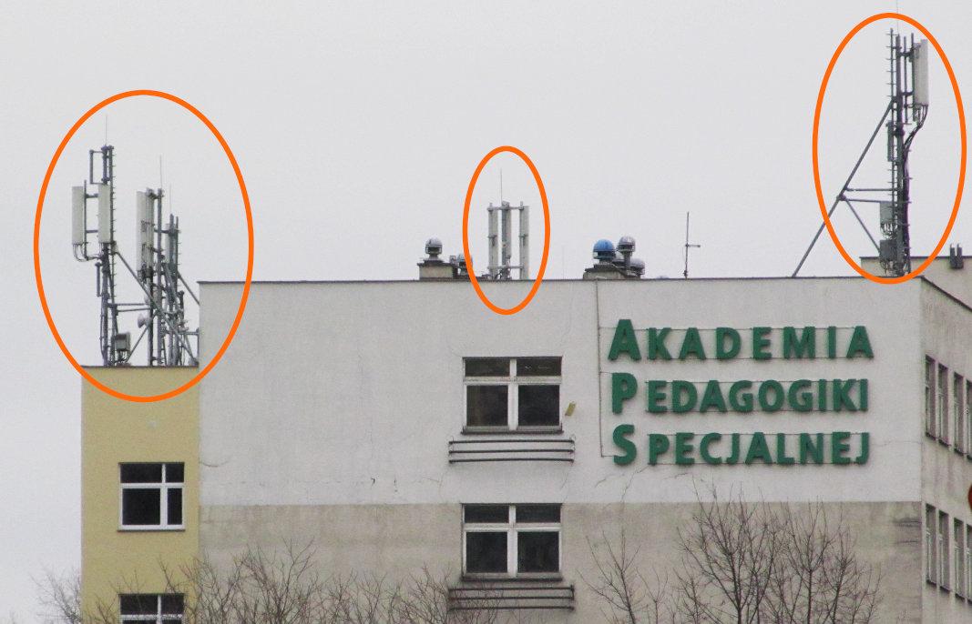 Anteny GSM w Warszawie
