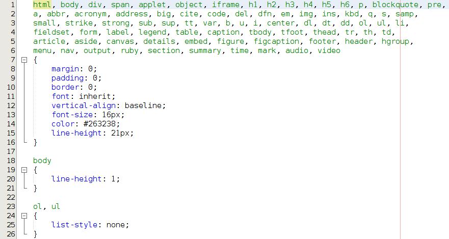 Typowy CSS