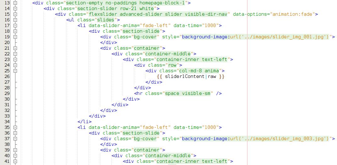 Typowy kod w języku HTML