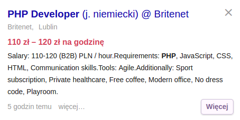 Praca dla programisty PHP z jezykiem niemieckim